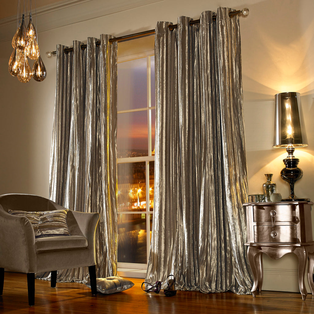 Iliana Praline Lined Eyelet Ready Made Curtains By Ashley Wilde Group