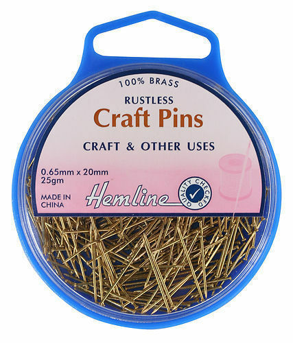 "Hemline ""Blue Box"" Pins Peel-Off Lid Various Shapes, Sizes And Amount FREE POST"