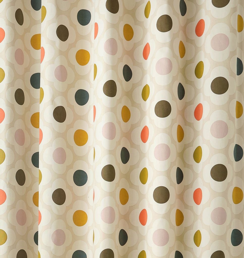Spot Flower Summer Blackout Lined Eyelet Ready Made Curtains By Orla Kiely