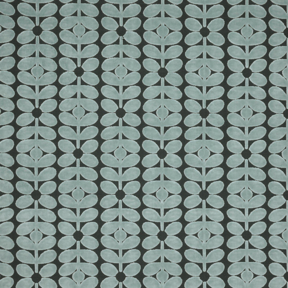 Velvet Sixties Stem Mid Powder Blue Curtain Upholstery Cushion Woven Fabric Volume 1 By Orla Kiely