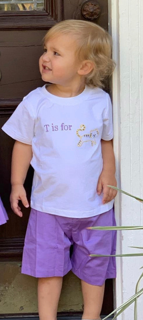 T is for Tiger Shorts Set