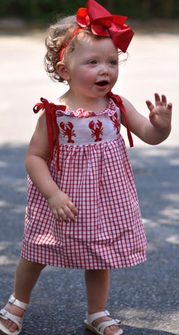 Smocked Crawfish Dress