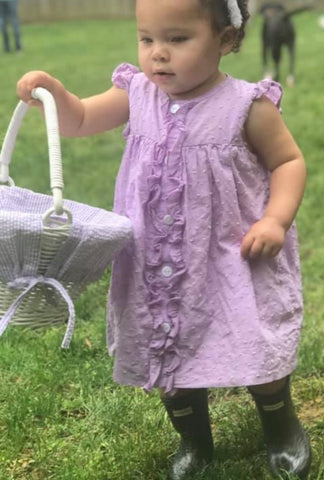 Purple Swiss Dot Dress