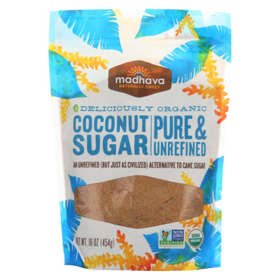 Madhava Honey Organic Coconut Sugar - Case Of 6 - 16 Oz.