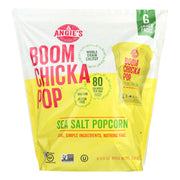 Angie's Boomchickapop Vegan Popcorn | Sea Salt | 1 oz  Snack Pack Bags | 24 Count