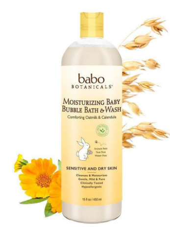 Babo Botanicals - Moisturizing Baby Bubble Bath & Wash - 15 oz.
