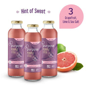 Hint of Sweet Grapefruit Lime & Sea Salt Purple Tea - 16oz,  3 pack - Meeschell