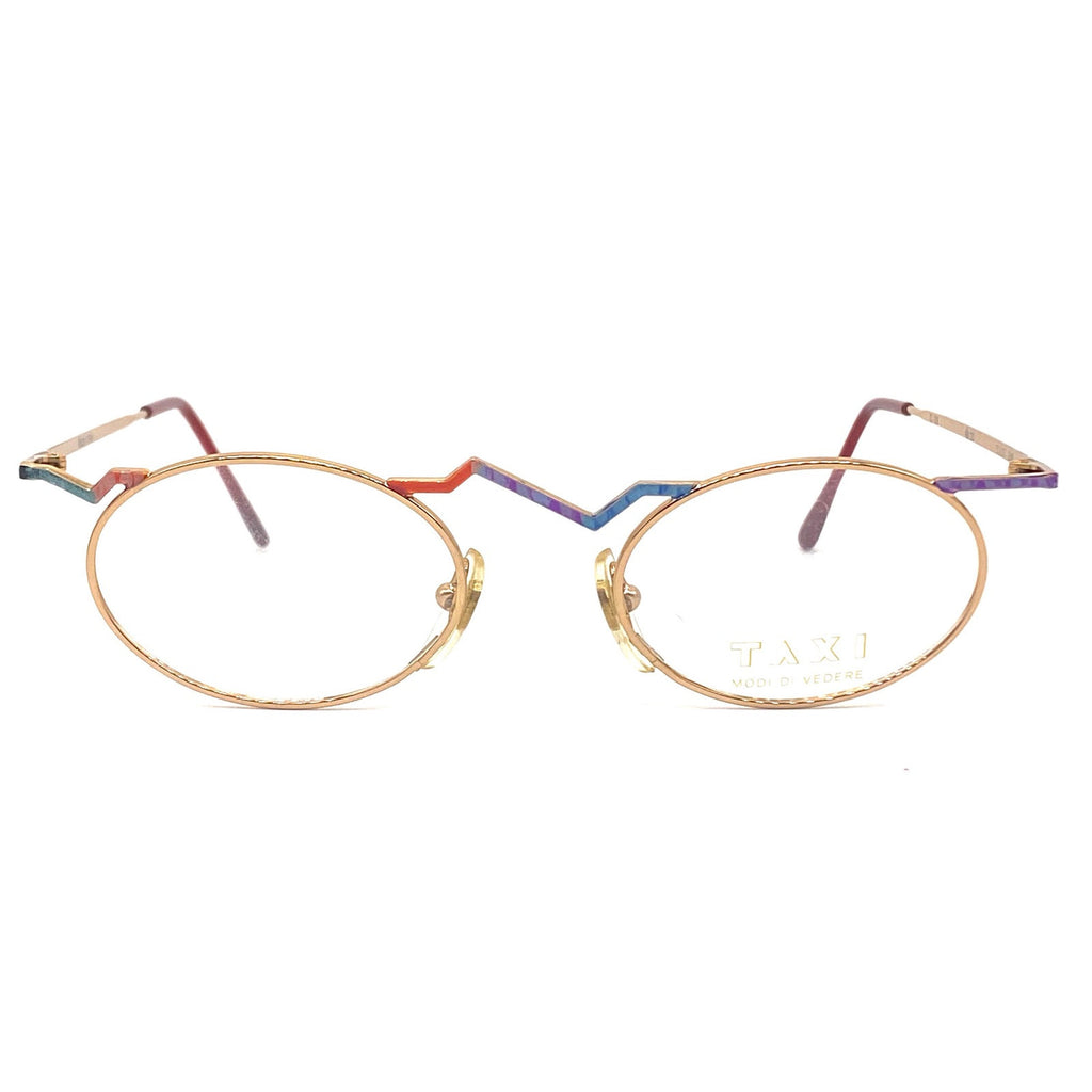 Taxi by casanova oval avant garde eyeglasses frames made in italy, 1980s nos - viceversashop