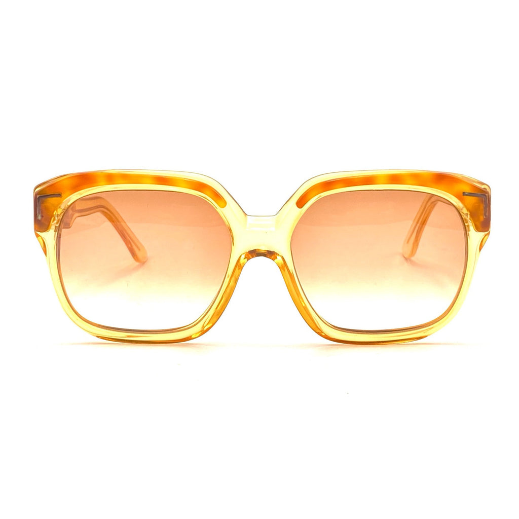 Celine C81 Vintage Sunglasses, Oversized Clear tortoise With Gold Accents NOS 80s - viceversashop