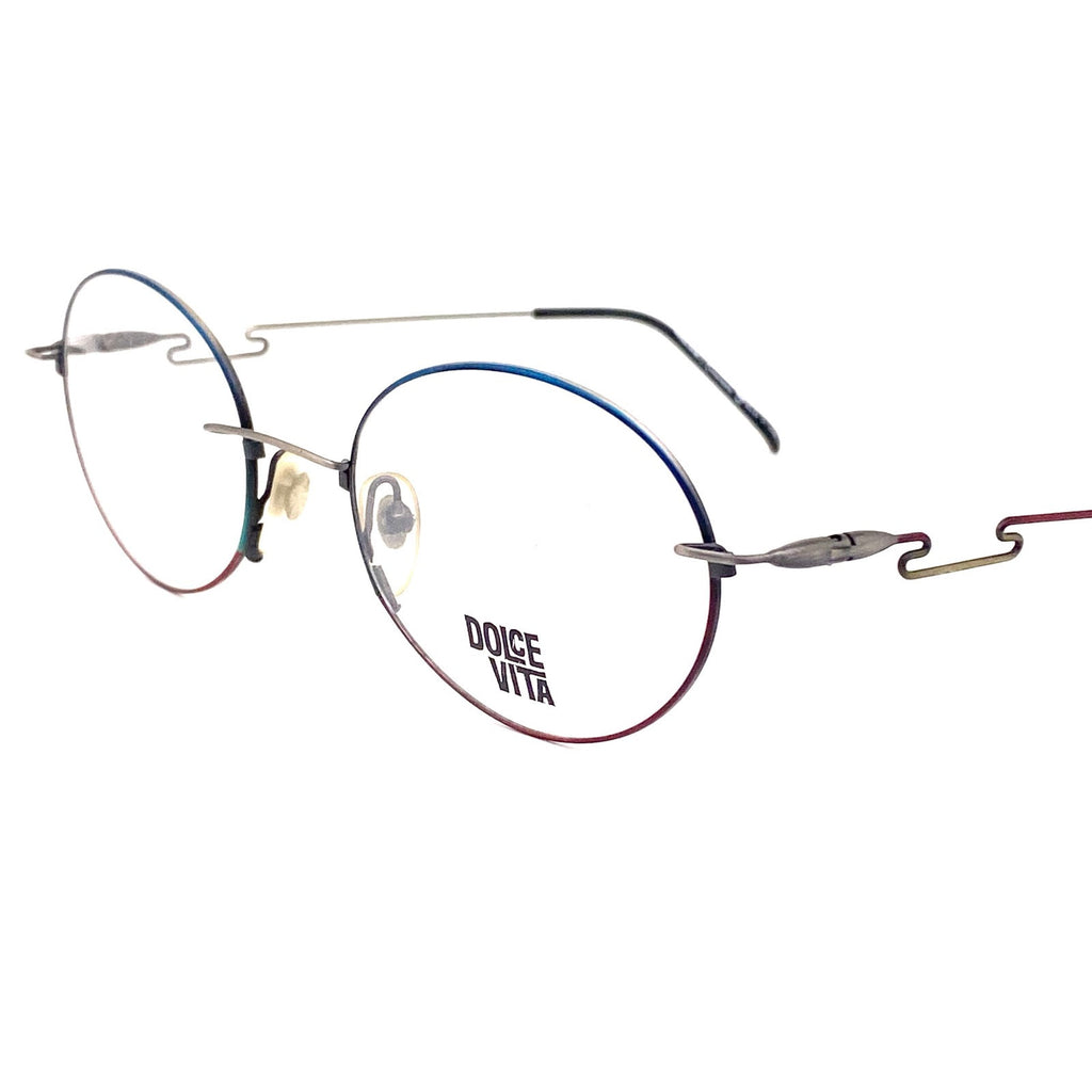 Casanova dolcevita oval avant- garde eyeglasses, ultra light multicolor frames nos 80s - viceversashop