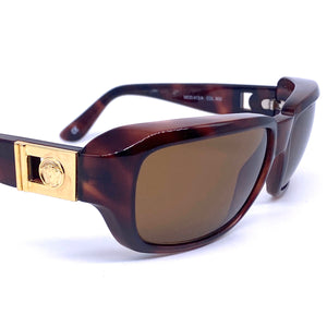 Gianni Versace 412/A iconic Medusa sunglasses, tortoise with golden details, NOS 90s - viceversashop