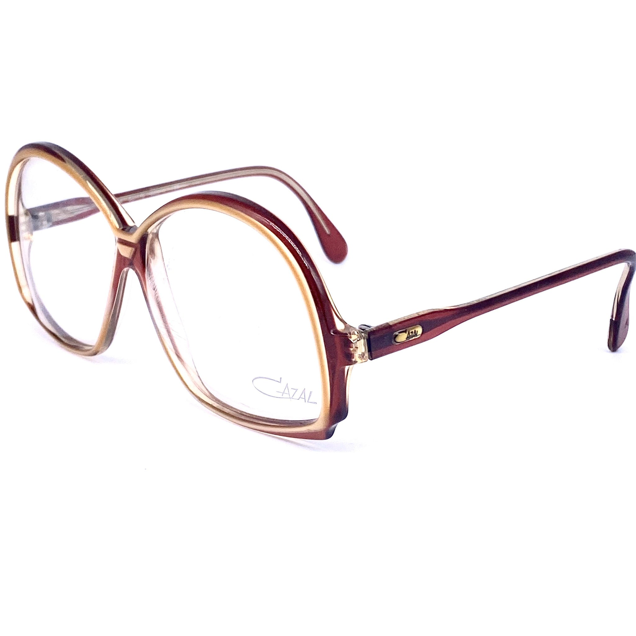 Cazal 156 oversized glasses frames made in west Germany, multilayered frames in 2 colors - viceversashop