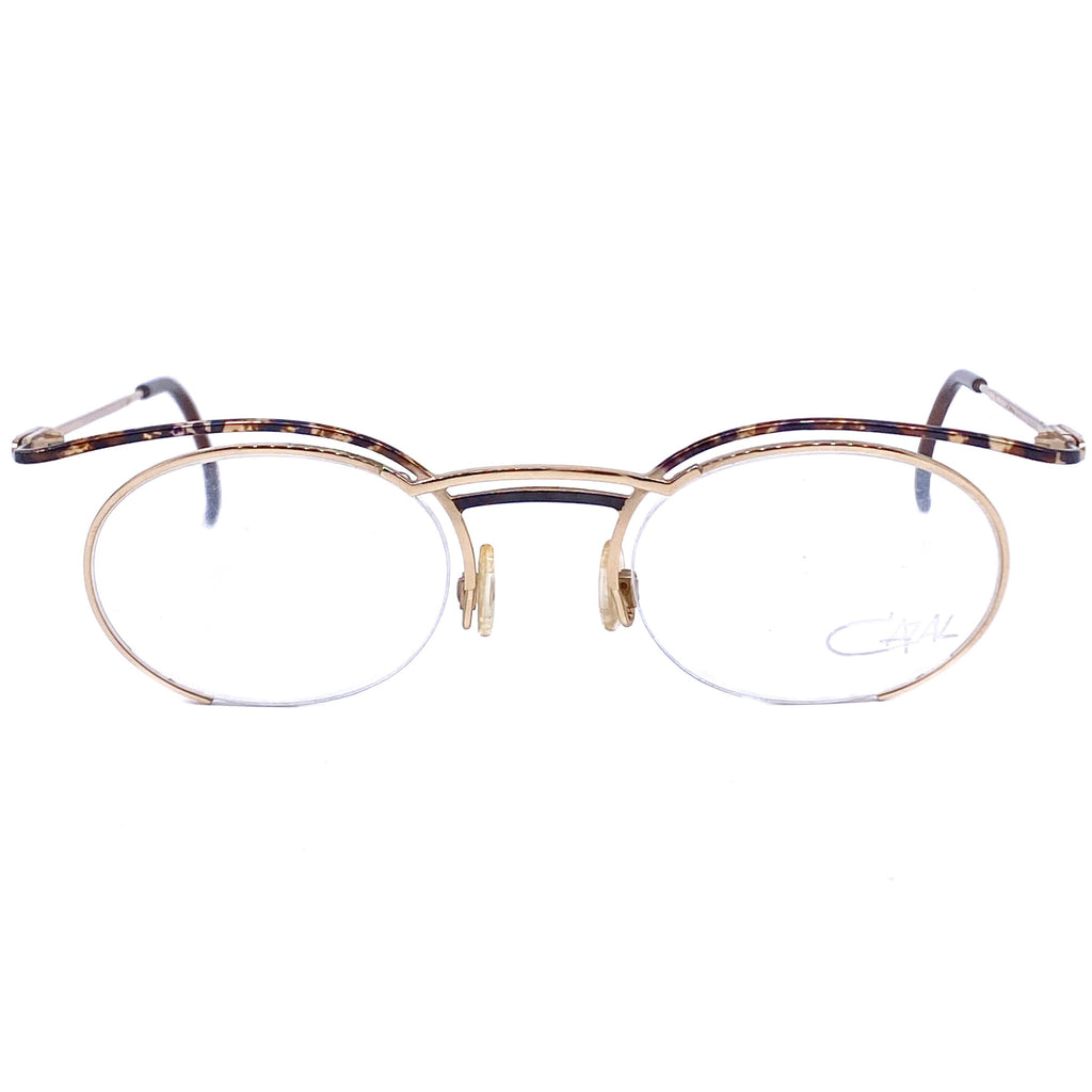 Cazal 101 oval gold avant Garde eyeglasses frames made in W. Germany, NOs 1980z - viceversashop