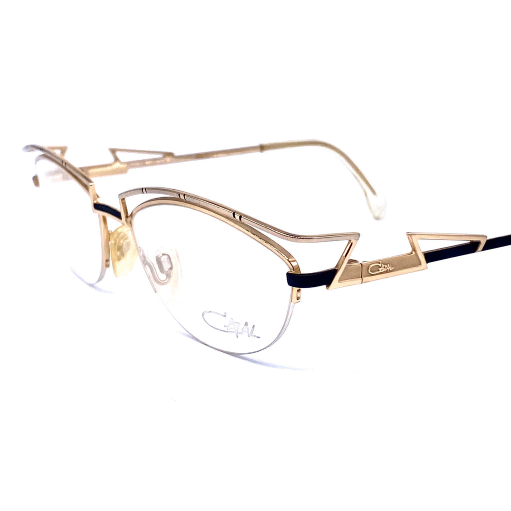 Cazal 296 oval gold avant Garde eyeglasses frames made in W. Germany, NOs 1980z - viceversashop