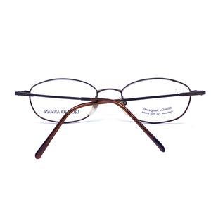 Giorgio Armani metallized brown oval glasses frames, NOS 1980s Italy - viceversashop