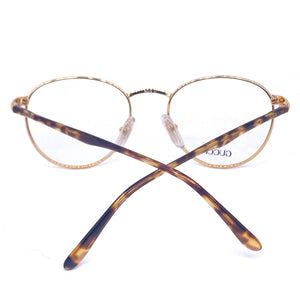 Gucci GG 1319 round gold plated metal frames made in Italy, 1980s NOs - viceversashop