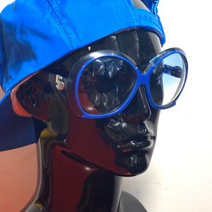 Silhouette 585 blue oversized sunglasses made in Austria, 1970s space age NOS - viceversashop