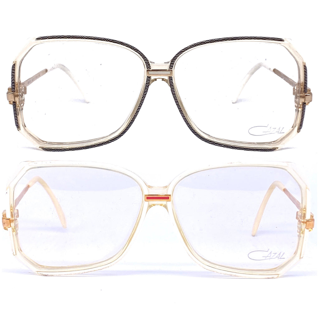 Cazal 167 square oversized eyeglasses frames made in W. Germany, 1980s NOS - viceversashop