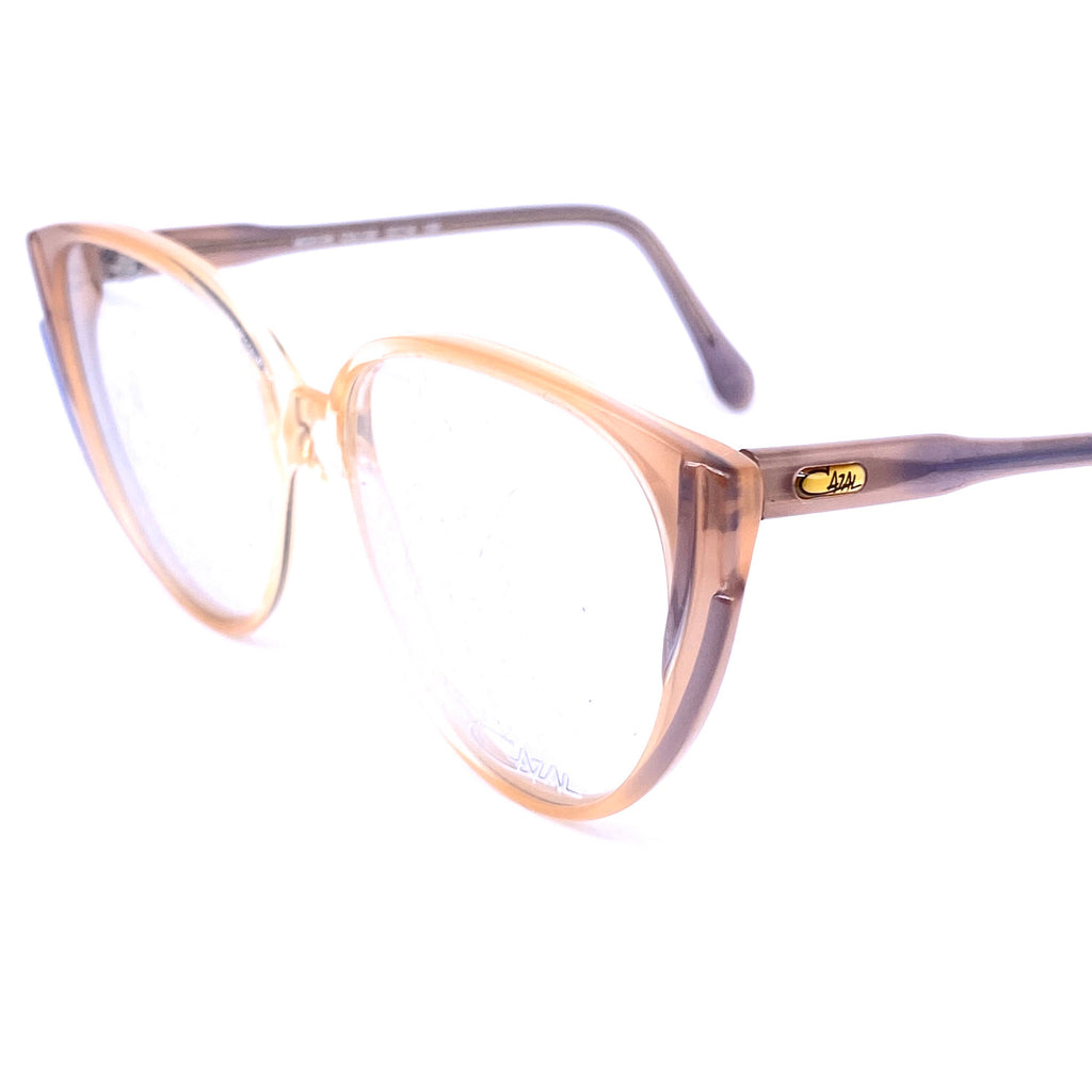 Cazal 134 vintage pink/lilac tones cateye oversized frames made in W,Germany, NOS 80s