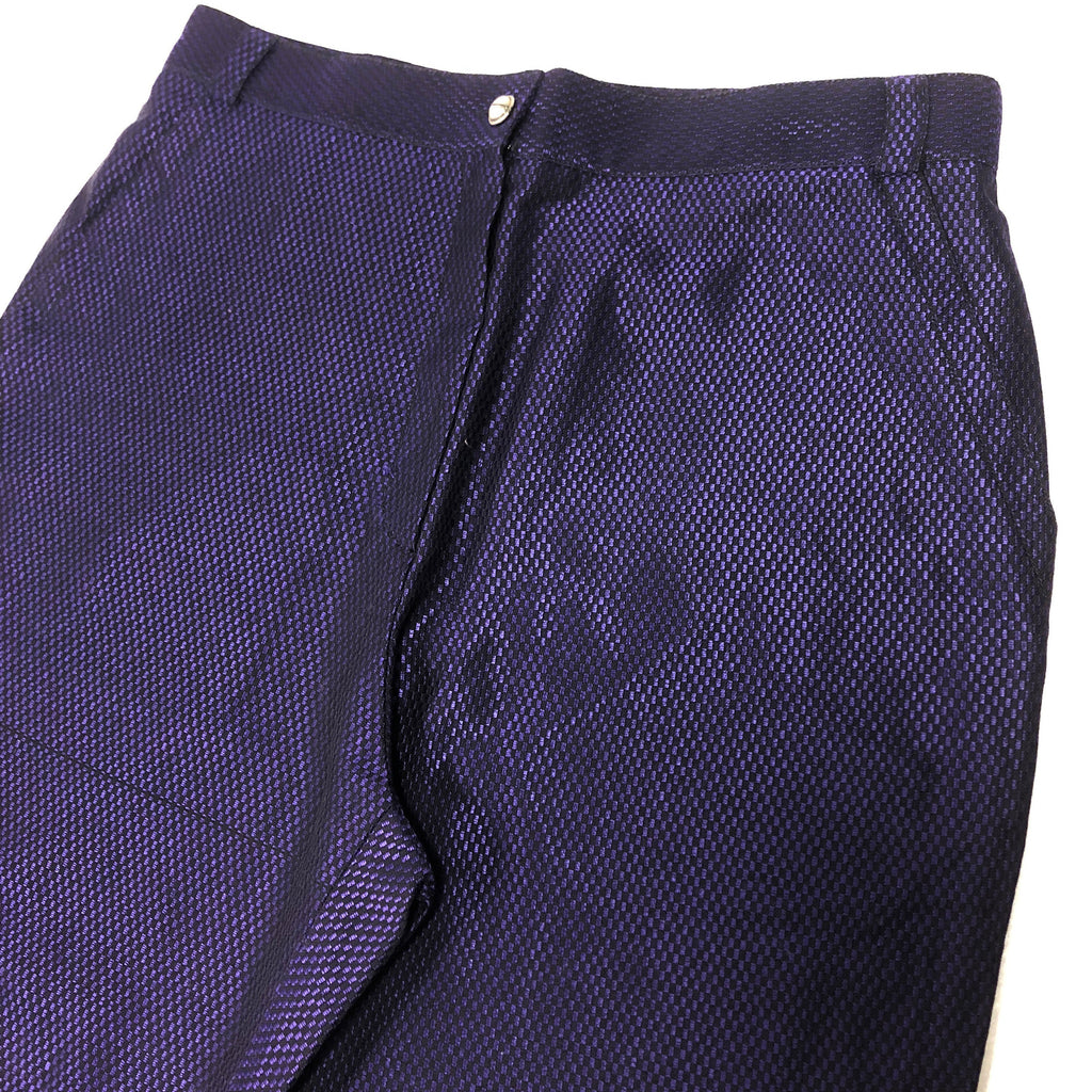 Gianni Versace NOS black and purple checkered cotton and viscose pants 90s with tags
