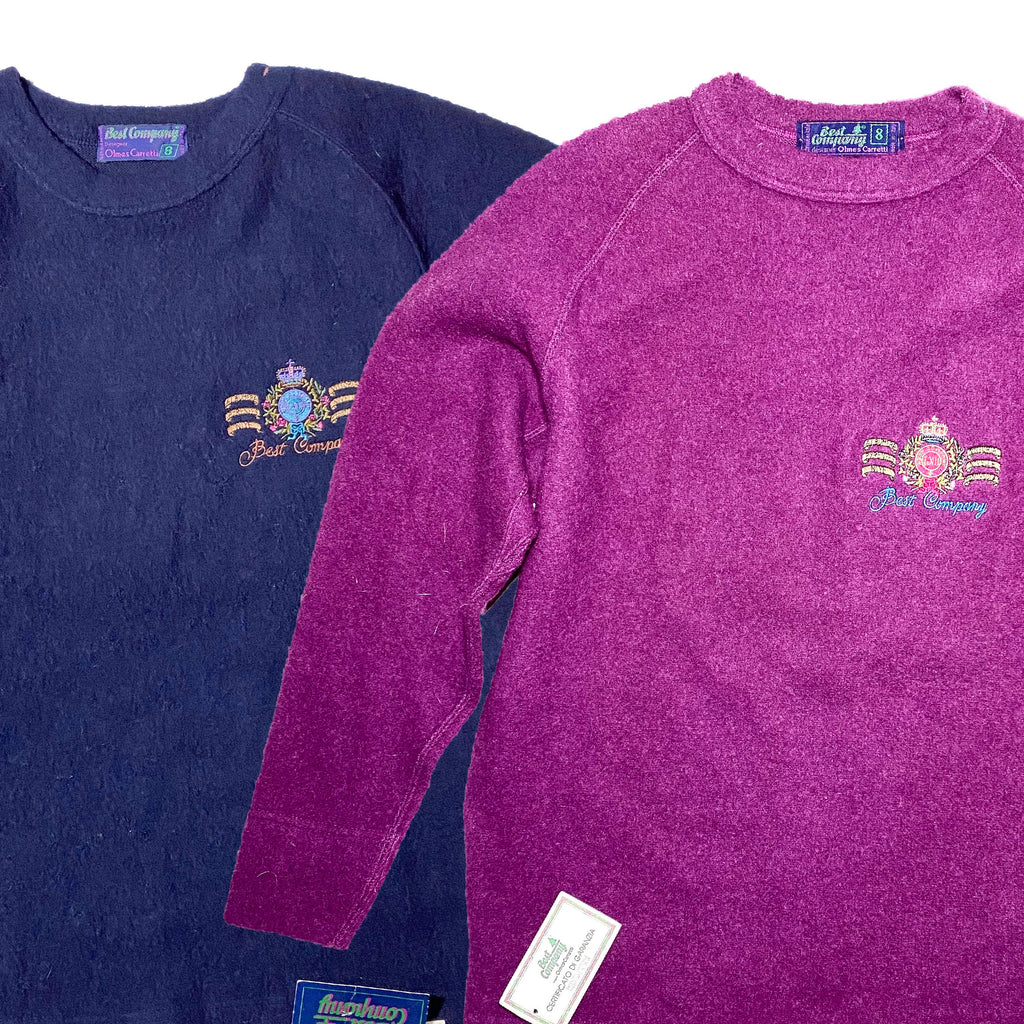Best Company NWT 100% wool sweatshirts made in Italy in the 80s, with tags.