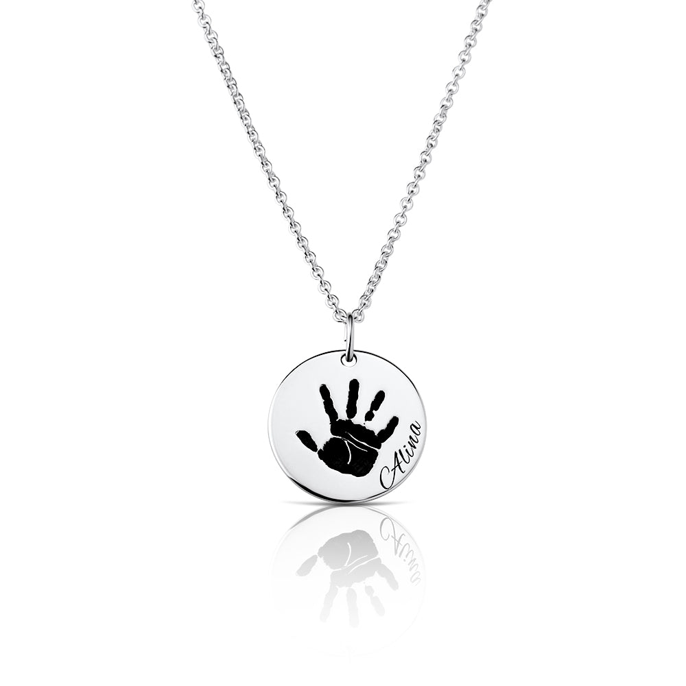 Forever in my Heart - Hand or Footprint Necklace
