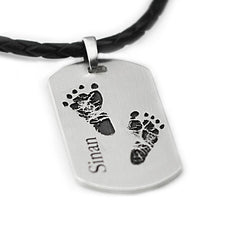 Family Tag - Sibling Necklace with two Prints