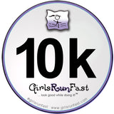 #girlsrunfast #10k sticker
