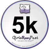 #girlsrunfast #5k sticker