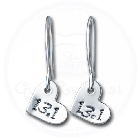 GirlsRunFast.com - Jewelry for runners - 13.1 Running Earrings