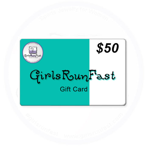 GIrlsRunFast - Gift Cards for Runners - Running Jewelry - Running Jewelry for Women - Women's Running Jewelry