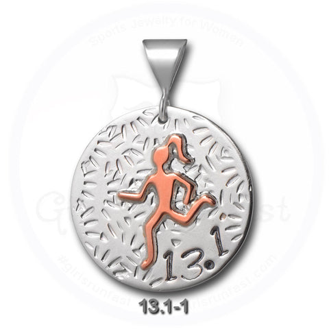 GirlsRunFast.com - Jewelry for runners - Running Pendants - 13.1 Pendant