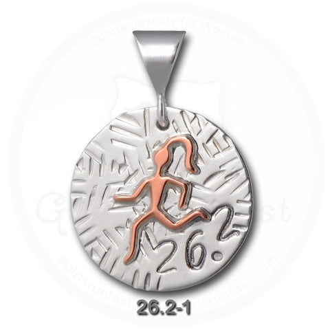 GirlsRunFast.com - Jewelry for runners - Running Pendants - 26.2 Pendant