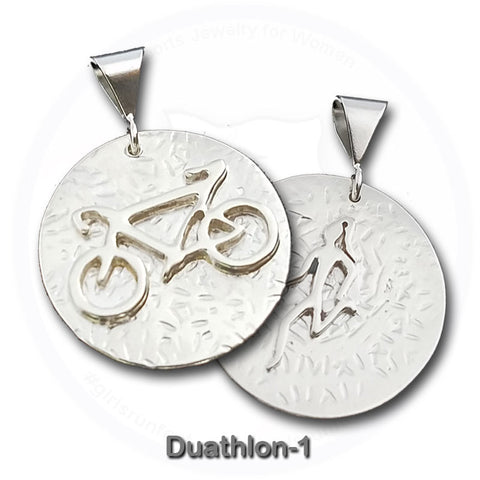 GirlsRunFast.com - Jewelry for runners - Running Pendants - Duathlon Pendant