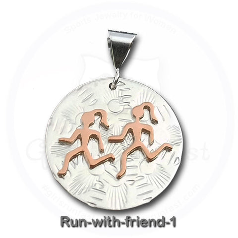 GirlsRunFast.com - Jewelry for runners - Running Pendants - Run with a friend - Pendant