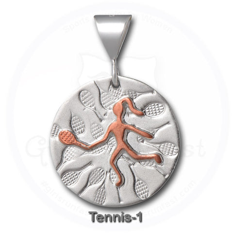 GirlsRunFast.com - Jewelry for runners - Running Pendants - Tennis Pendant