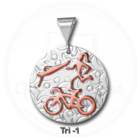 GirlsRunFast.com - Jewelry for runners - Running Pendants - Triathlon Pendant