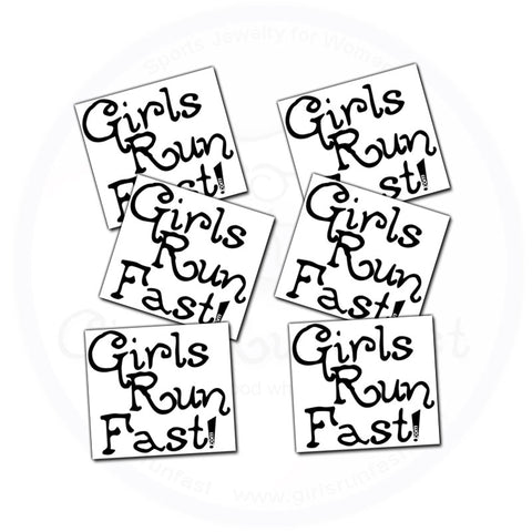 GirlsRunFast.com - Jewelry for runners - Temporary Tattoo's for Runners