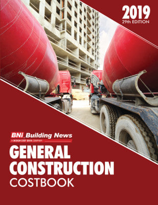 BNI Building News Introduces the Brand New 2019 BNI General Construction Costbook