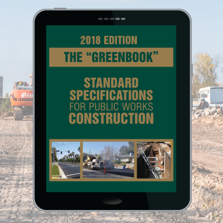 2018 edition of Greenbook Public Works Construction ebook released