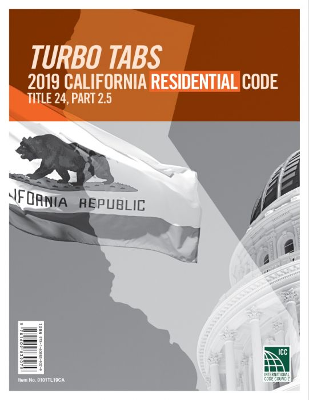 2019 California Residential Code, Title 24, Part 2.5 Tabs