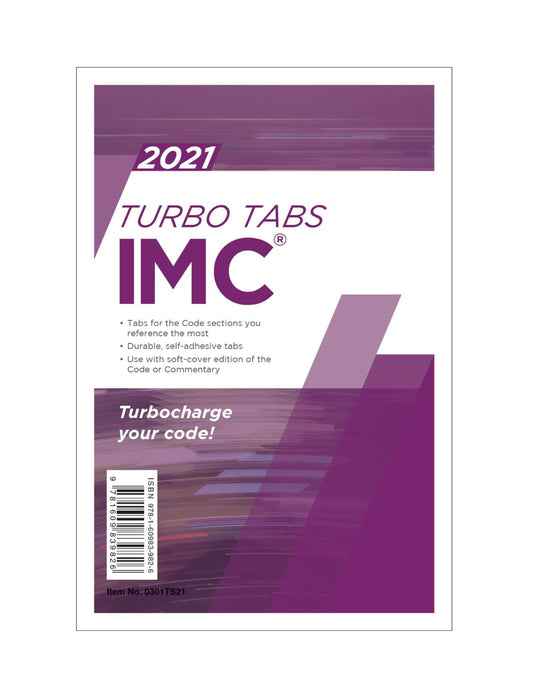2021 International Mechanical Code Turbo Tabs