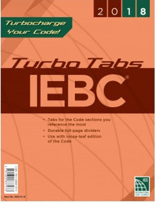 2018 International Existing Building Code Turbo Tabs LL