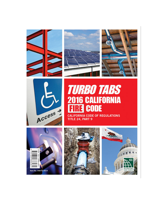 Title 24 Part 9 2016 - California Fire Code Tabs