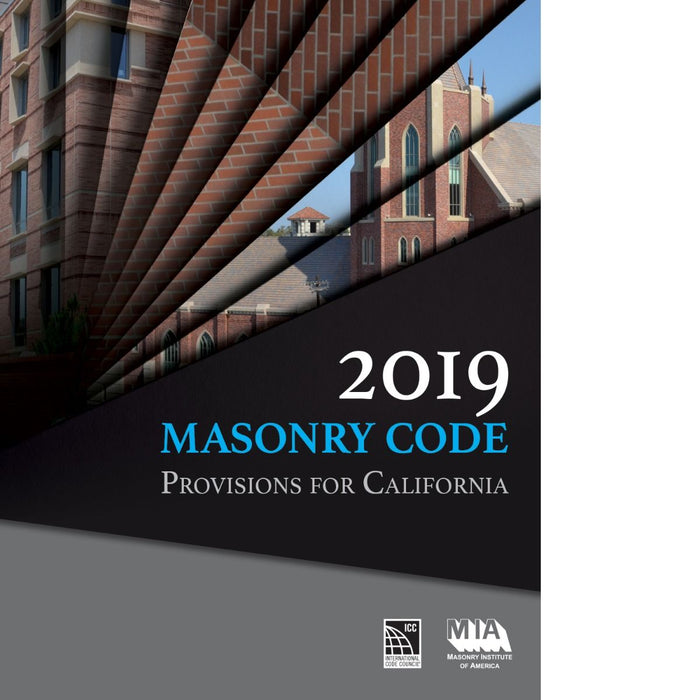 2019 Masonry Code Provisions For California