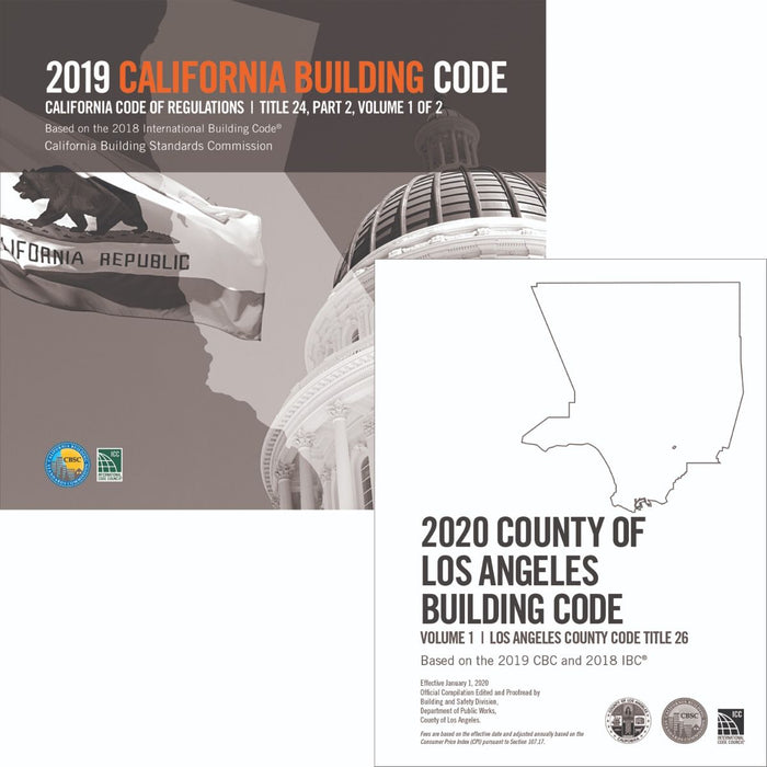 2020 County of Los Angeles Building Code (2 Volumes) Complete Code