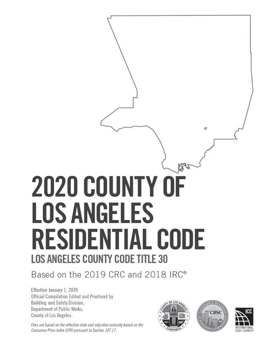 2020 County of Los Angeles Residential Code - Amendments only