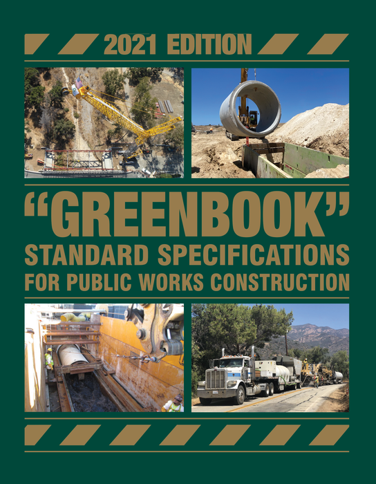 2021 Greenbook: Standard Specifications for Public Works Construction
