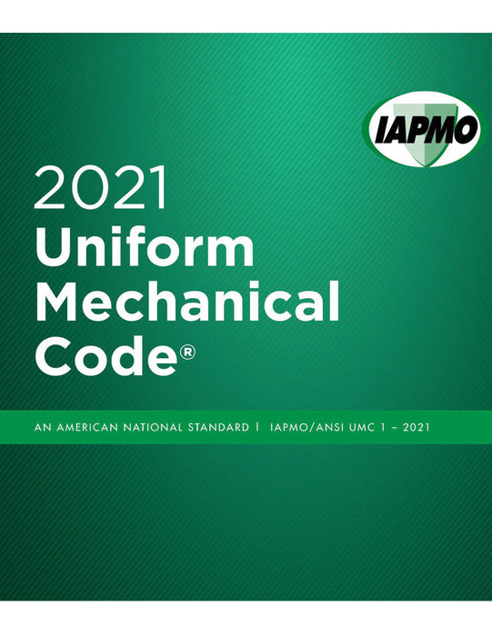 2021 Uniform Mechanical Code w/tabs