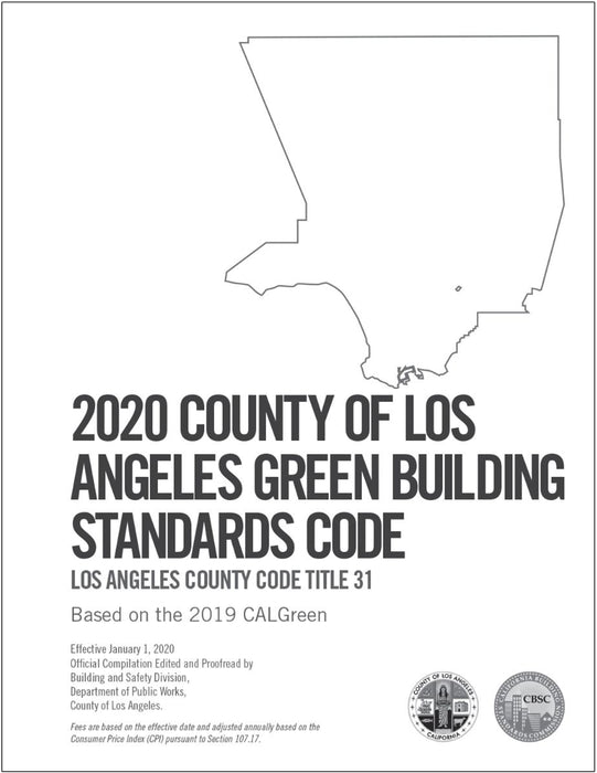 2020 County of Los Angeles Green Building Standards Code - Amendments only
